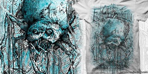 Orbweaver t-shirt by Aaron Crawford