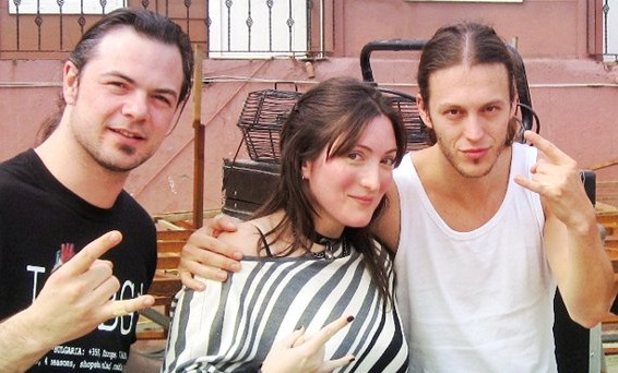 Left to right : Isaac, Mona, Mark